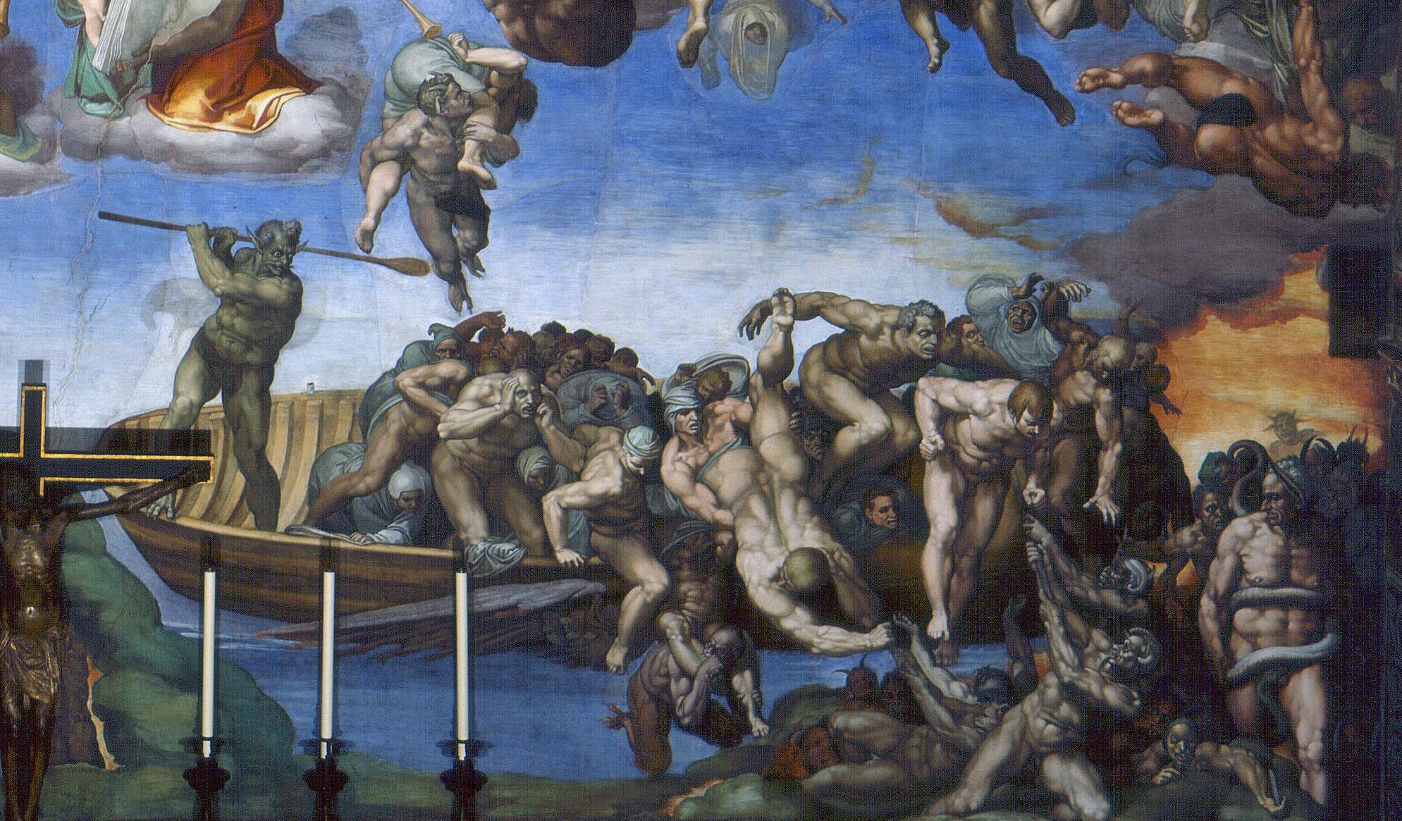 Michelangelo. The Last Judgment. Sistine Chapel, Vatican City. 1541. Fresco. Charon.