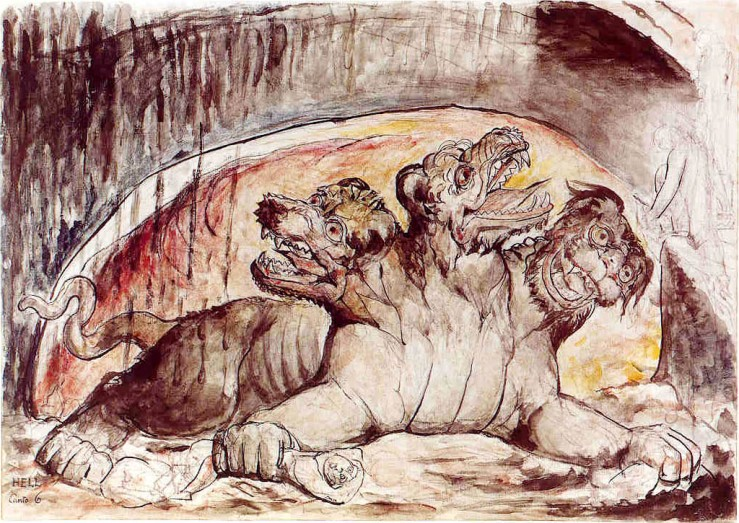 Blake, William. Cerberus. 1827. Chalk, ink, pen, pencil, and watercolour on paper..jpg