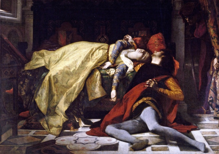 Cabanel, Alexandre. The death of Francesca da Rimini and Paolo Malatesta. 1870. Oil on canvas.