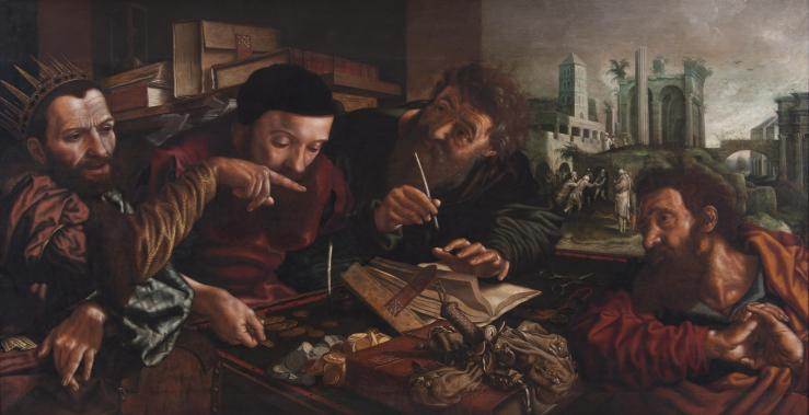 Hemessen, Jan Sanders van. The Parable of the Unmerciful Servant. 1556. Oil on panel.
