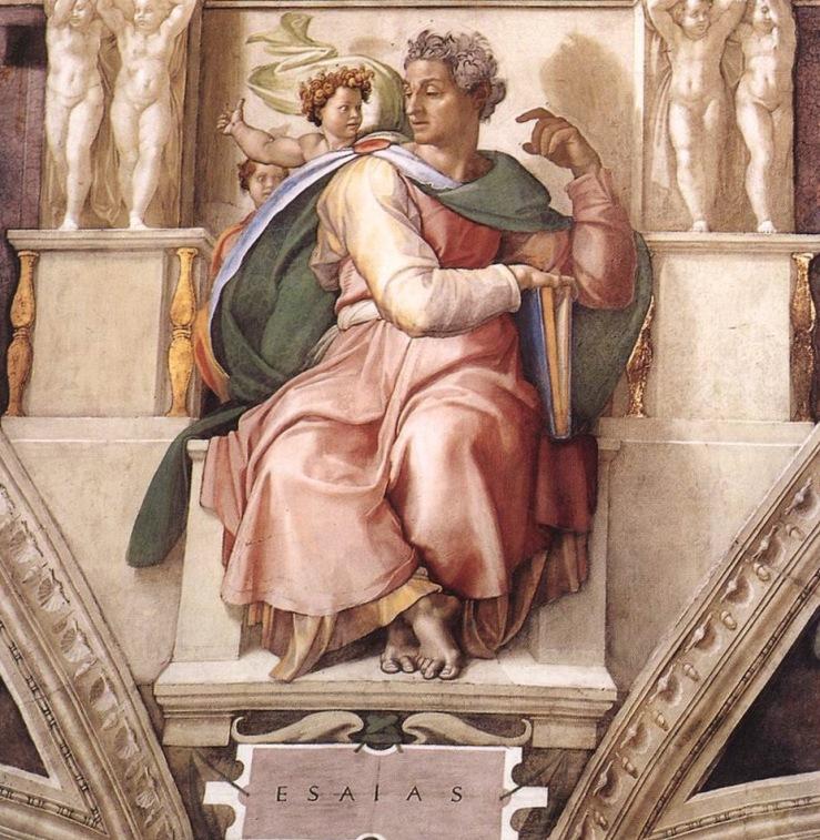 Michelangelo. Prophet Isaiah. Sistine Chapel, Vatican City. 1512. Fresco.