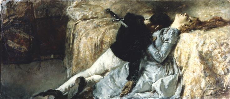 Previati, Gaetano. Paolo e Francesca. 1887. Oil on canvas..jpg