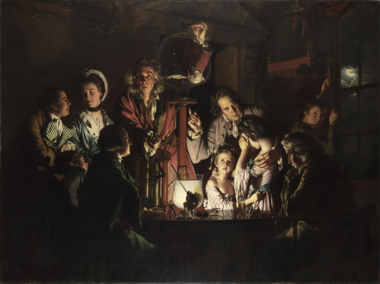 Wright of Derby, Joseph. An Experiment on a Bird in the Air Pump. London, United Kingdom. National Gallery, 1768. Oil on canvas..jpg