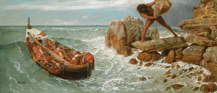 Böcklin, Arnold. Odysseus and Polyphemus. Oil and tempera on panel. 1896..jpg