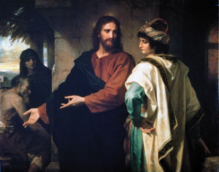Hoffman, Heinrich. Christ and the Rich Young Ruler. 1889..jpg