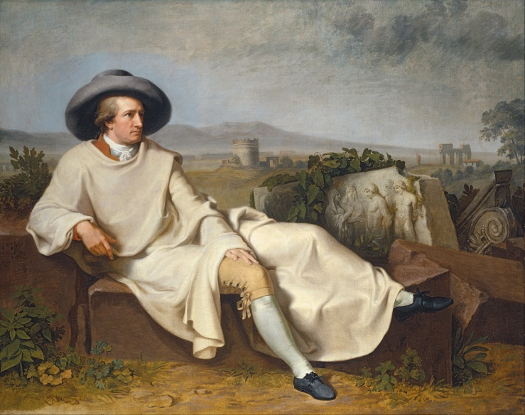 Tischbein, Johann Heinrich Wilhelm. Goethe in the Roman Campagna. 1787. Oil on canvas..jpg