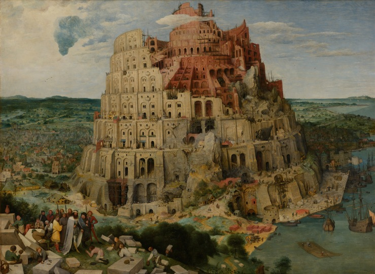 Bruegel the Elder, Pieter. The (Great) Tower of Babel. Austria, Vienna. Kunsthistorisches Museum, 1563. Oil on panel..jpg