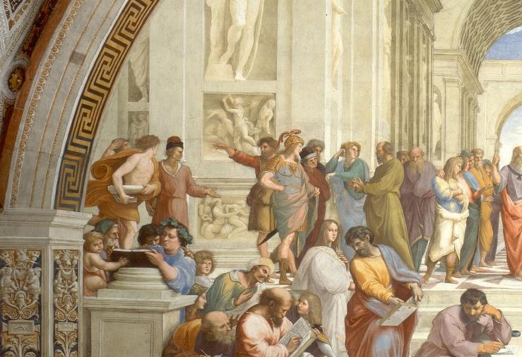 Raphael. Epicurus. The School of Athens. 1511. Fresco..jpg