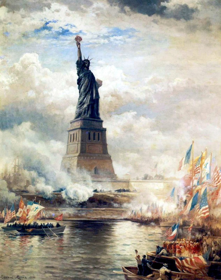 Moran, Edward. Statue of Liberty unveiled. 1886.