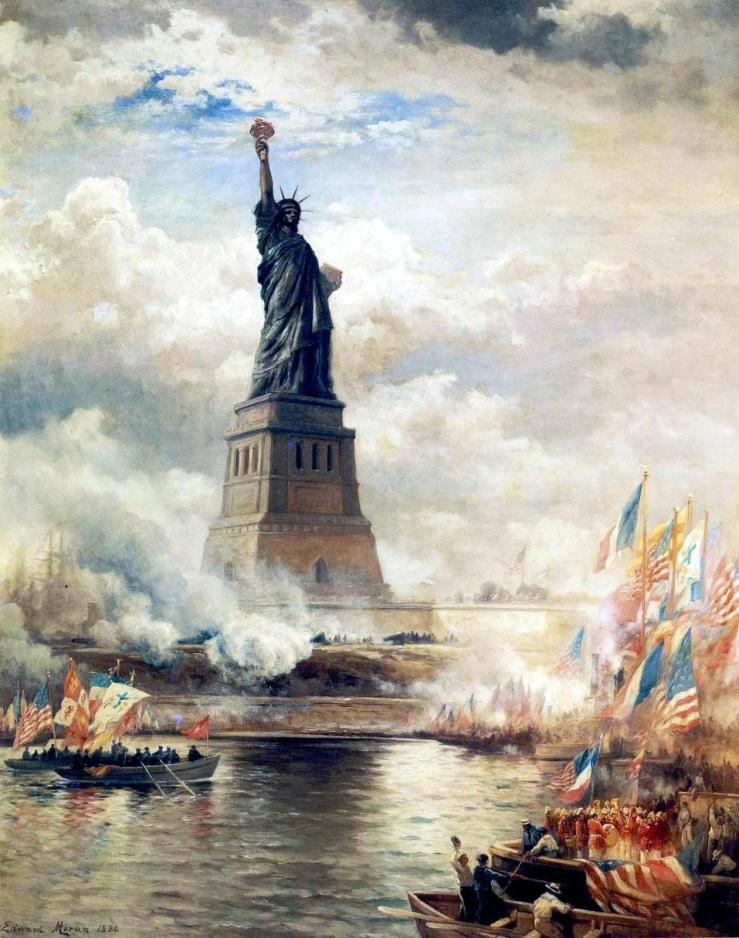 Moran, Edward. Statue of Liberty unveiled. 1886.