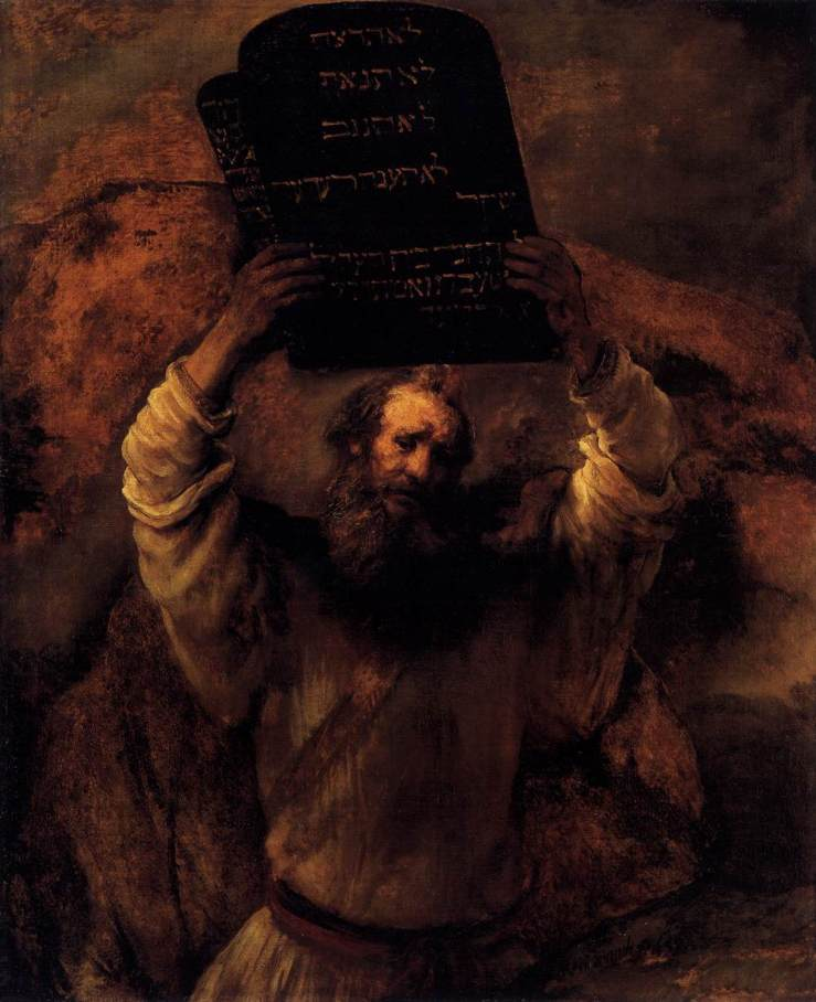 Rembrandt. Moses Smashing the Tablets of the Law. 1659. Oil on canvas.
