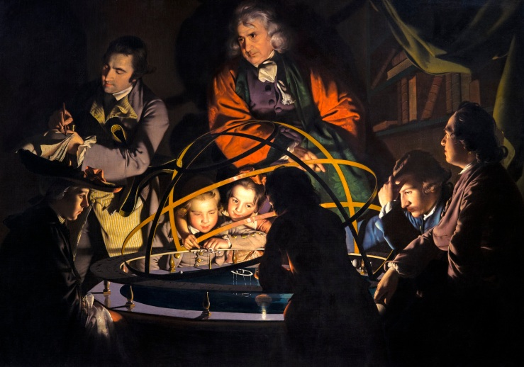 Wright of Derby, Joseph. A Philosopher Lecturing on the Orrery. Derby Museum and Art Gallery. 1766. Oil on canvas..jpg