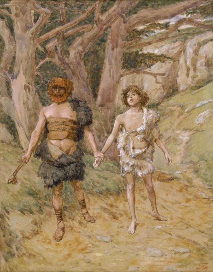 Tissot, James. Cain leads Abel to death. 1902..jpg