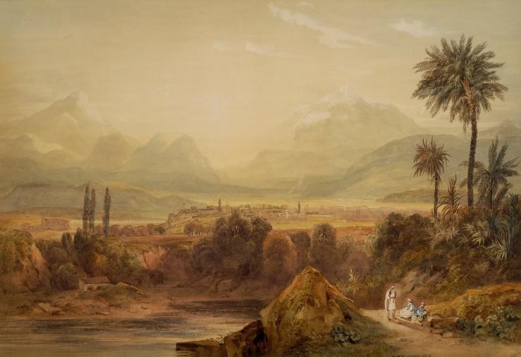Williams, Hugh William. View of Thebes. Benaki Museum, 1819. Watercolor..jpg
