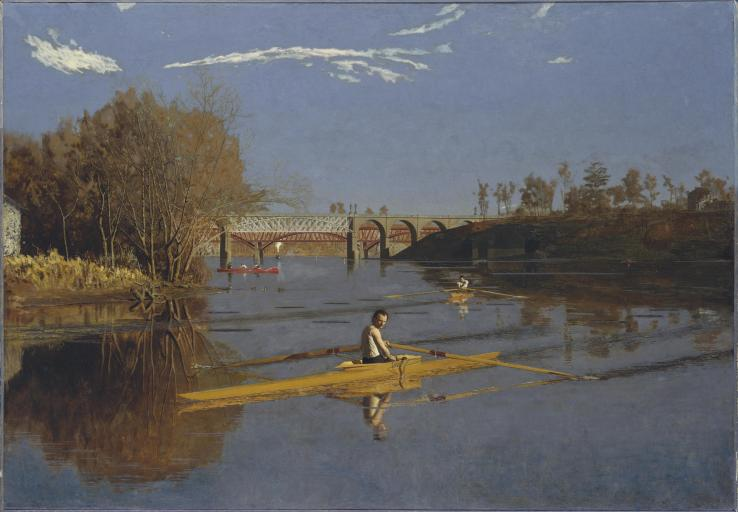 Eakins, Thomas. The Champion Single Sculls (Max Schmitt in a Single Scull). Metropolitan Museum of Art. 1871. Oil on canvas..jpg