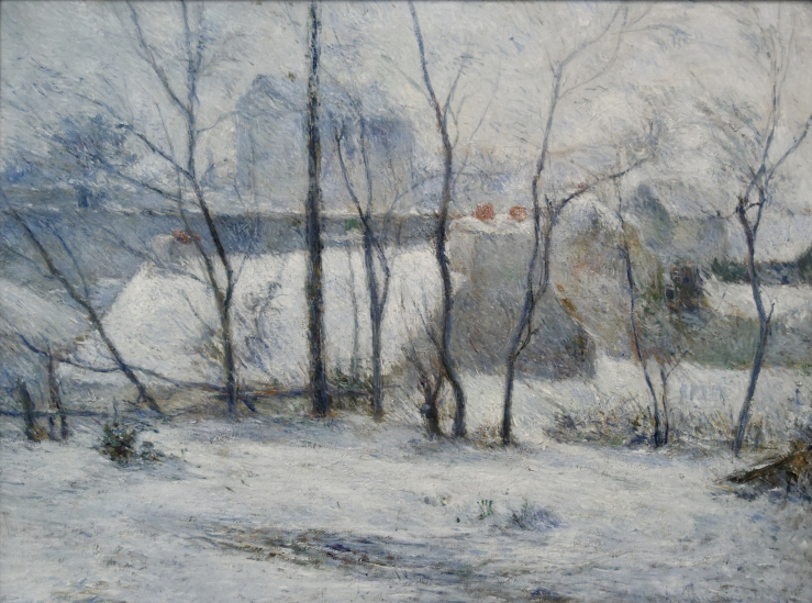 Gauguin, Paul. Garden under Snow. Budapest. Museum of Fine Arts, 1879. Oil on canvas.