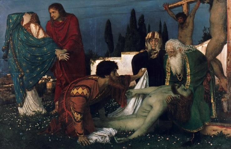 Böcklin, Arnold. The Deposition. Tempera on panel. 1876..jpg