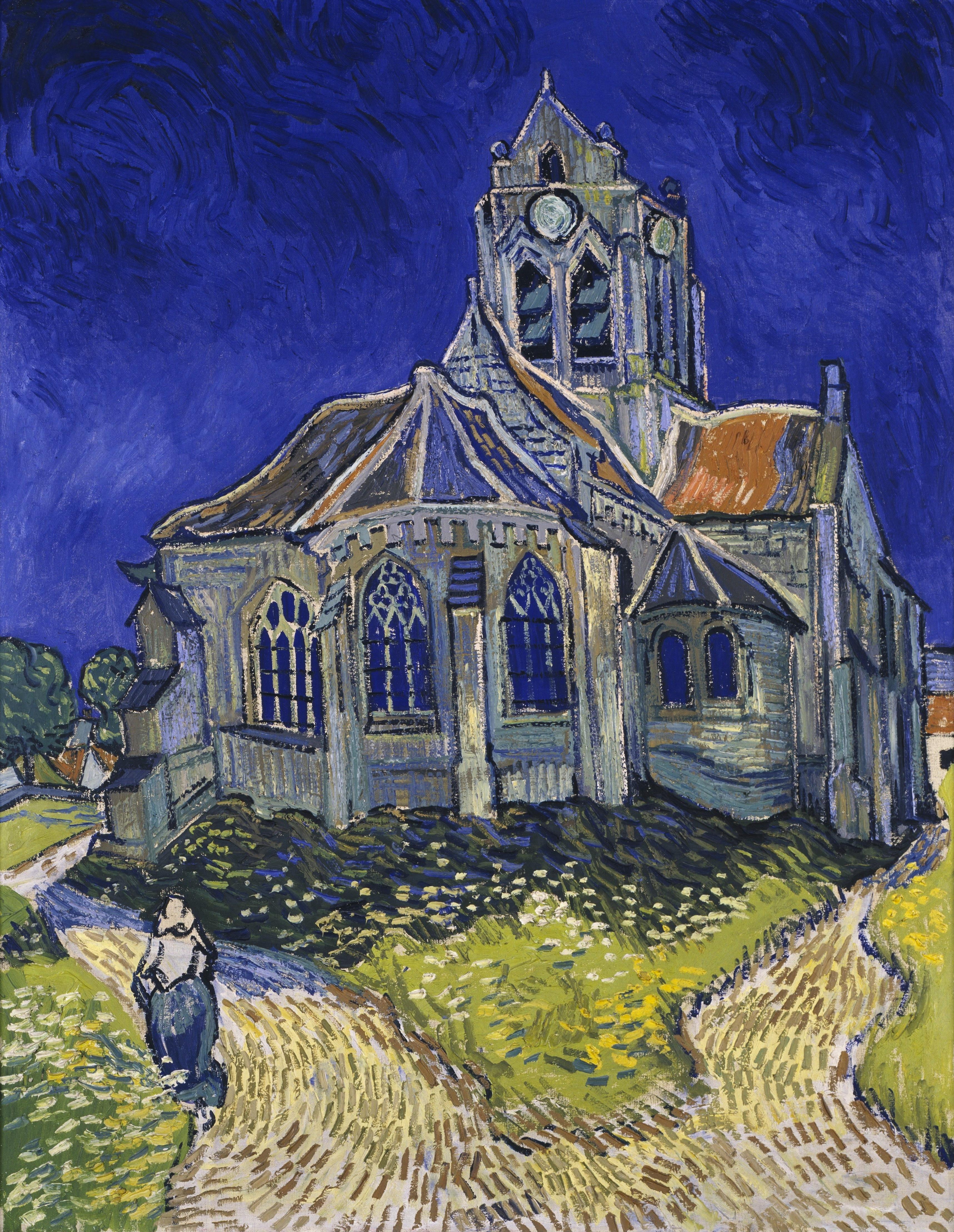 Van Gogh, Vincent. The Church at Auvers. Paris. Musée d'Orsay. 1890. Oil on canvas.