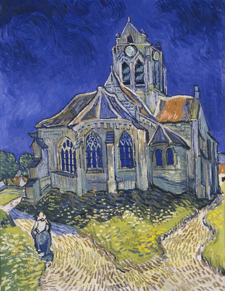 Van Gogh, Vincent. The Church at Auvers. Paris. Musée d'Orsay. 1890. Oil on canvas.