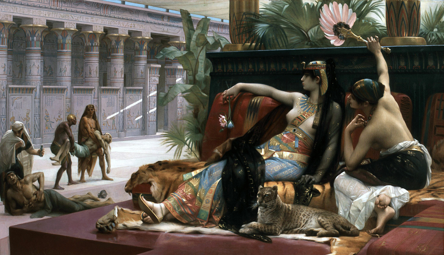 Cabanel, Alexandre. Cleopatra Testing Poisons on Condemned Prisoners. Antwerp, Belgium. Royal Museum of Fine Arts, 1887. Oil on canvas.