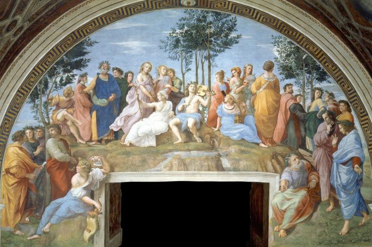 Raphael. The Parnassus. 1511. Fresco.